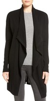 Halogen Cashmere Long Drape Front Cardigan (Regular & Petite)
