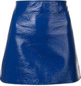 Courreges vinyl effect skirt
