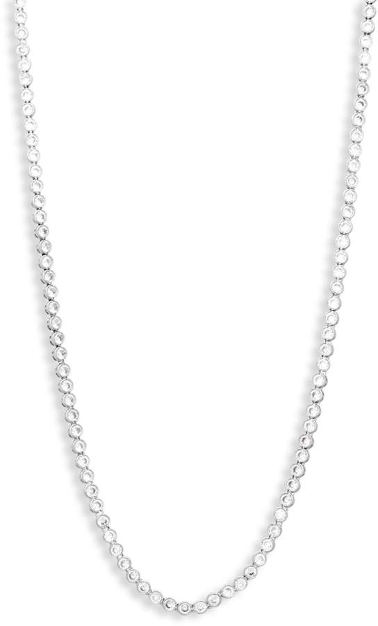 Kenneth Jay Lane Cz By Cubic Zirconia Round Bezel Necklace