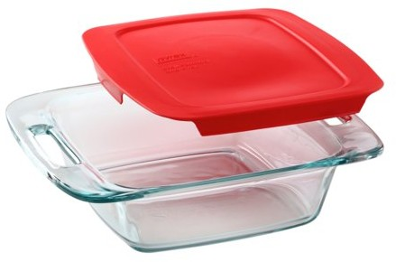 "Pyrex Easy Grab 8"" 2 Quart Square Baking Dish"