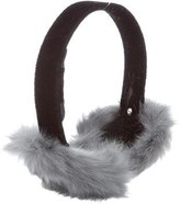 Adrienne Landau Velvet Fur Ear Muffs