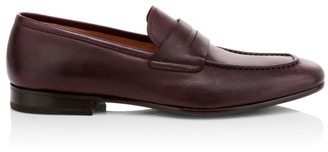 Salvatore Ferragamo Sunset Leather Penny Loafers