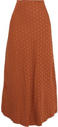 Racil Polka-dot Jacquard Maxi Skirt