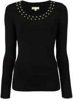 MICHAEL Michael Kors studded jumper - women - Nylon/Spandex/Elastane/Viscose - S