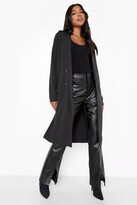 Thumbnail for your product : boohoo Tall Utility Button Detail Trench Coat