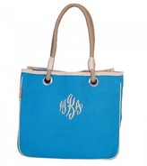 The Well Appointed House Rope Tote in Turquoise-Can Be Personalized
