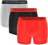 Ralph Lauren Underwear 3 Pack Boxer Shorts Red