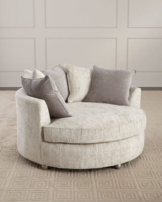 Old Hickory Tannery Bethany Round Chaise