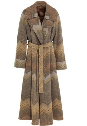 Missoni Zig-Zag Belted Coat