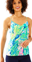 Lilly Pulitzer Dusk Racer Back Silk Tank Top