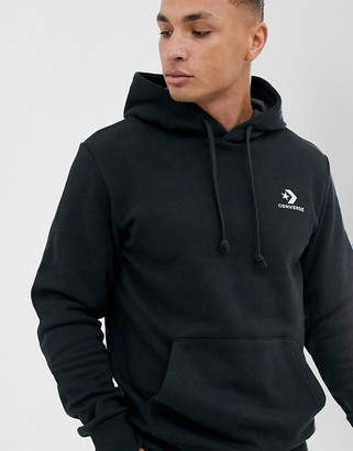 Converse small logo hoodie in black