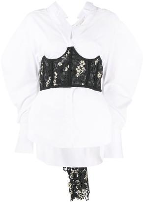 Hellessy Corset-Layered Cotton Shirt