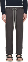 Robert Geller Grey Twill Dock Trousers