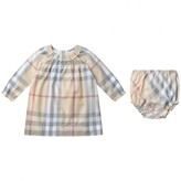 Burberry BurberryBaby Girls Pale Stone Check Amandine Dress With Knickers