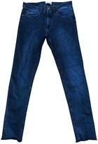 Acne Studios Blue Cotton Trousers