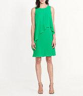 Lauren Ralph Lauren Round Neck Sleeveless Overlay Shift Dress