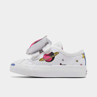 Converse Girls' Toddler Jack Purcell Space Pack Hook-and-Loop Casual Shoes
