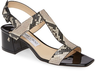 Jimmy Choo Jin Snake Print Sandal