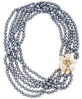 Kenneth Jay Lane Gold-electroplated Glass Pearl Necklace.
