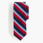 J.Crew English silk tie in blue stripe