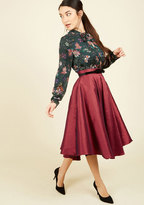 Mellifluous Maven Midi Skirt in Ruby in XXL