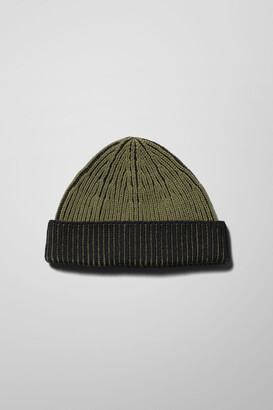 Weekday Stan Two Toned Beanie - Green