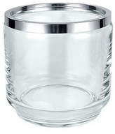 Masini Glass and Silver Ice Bucket