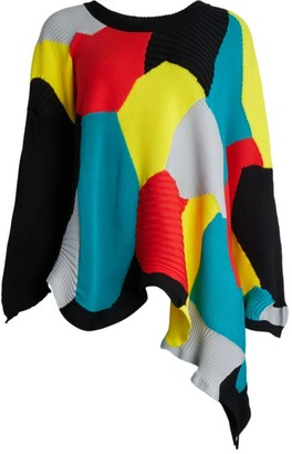 Issey Miyake Kone Asymmetric Knit Sweater