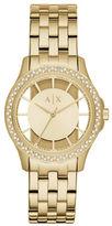 Armani Exchange Lady Hampton Stainless Steel Link Bracelet Watch