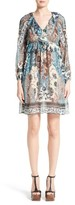 Roberto Cavalli Women's Patchwork Print Ruffle Silk Blend Dress