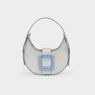 Les Petits Joueurs Cindy Shoulder Bag In Silver Leather