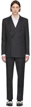 Burberry Grey Pinstripe English Suit