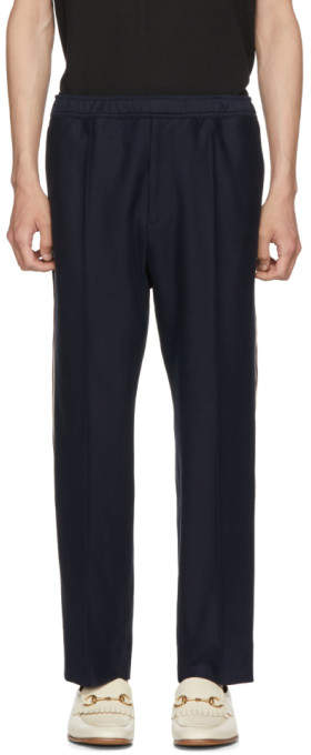 Gucci Navy Logo Tape Lounge Pants