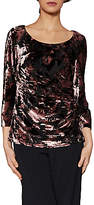 Gina Bacconi Nicole Floral Velvet Top, Plum Frost