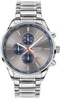 Sekonda Silver Sunray and Blue Detail Chronograph Dial Stainless Steel Bracelet Mens Watch