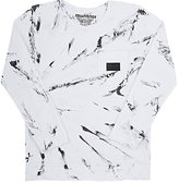 Munster Marble-Print Jersey Long-Sleeve T-Shirt-WHITE
