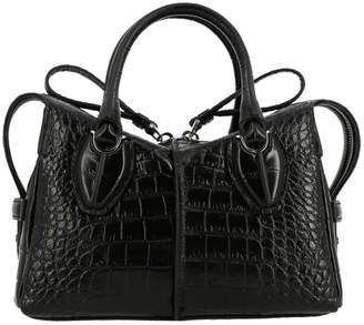 Tod's D Mini Bag In Croc Print Leather With Shoulder Strap