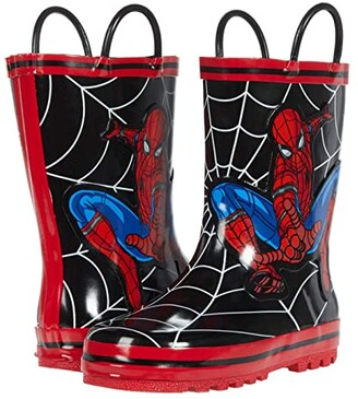 Favorite Characters Spider-Mantm Rain Boots F20 SPF504 (Toddler/Little Kid) (Black) Boy's Shoes