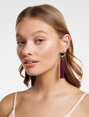 Ever New Nellie Tassel and Circle Drop Earrings
