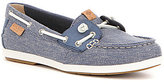 Sperry Coil Ivy Canvas Lace Up Slip On Boat Shoe