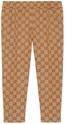 Gucci Children's GG canvas trousers