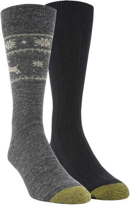 Gold Toe Deer Border Dress Socks 2-Pack