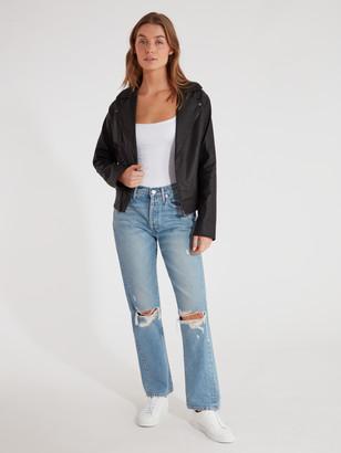 Finders Keepers Bianca Vegan Leather Moto Jacket