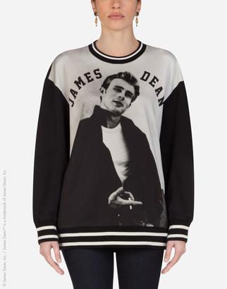 Dolce & Gabbana Jersey Sweatshirt With James Dean Print