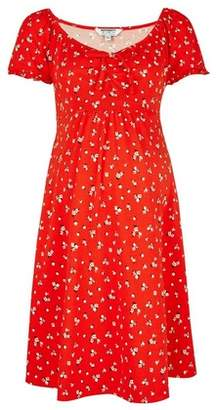 Dorothy Perkins Womens **Maternity Red Floral Print Skater Dress, Red