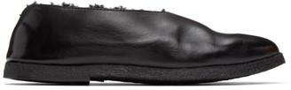 Marsèll SSENSE Exclusive Black Gomme Shearling Coltellara Ballerina Flats