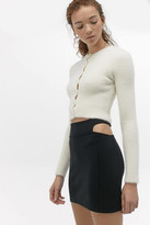 Urban Outfitters Side Cutout Ponte Mini Skirt