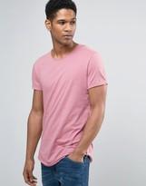 Esprit Crew Neck T-Shirt With Raw Edges