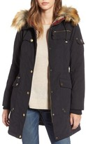1 Madison Women's Anorak Parka With Faux Fur Trim