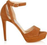 Jimmy Choo KAYDEN Canyon Suede Platform Sandals